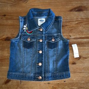 Old Navy NWT Jean vest 4T  cute